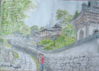 平戸、寺院と教会の見える風景.jpg